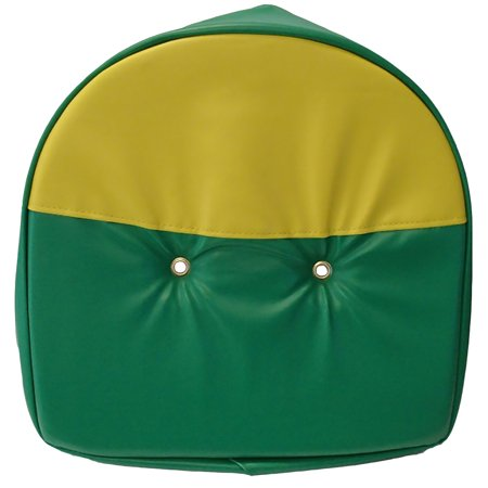 T295GY One New Universal, Green and Yellow Pan Seat Cover Made to Fit John Deere Tractor Ford Massey and More
