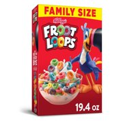 Kellogg's Froot Loops Breakfast Cereal Original Family Size 19.4 Oz