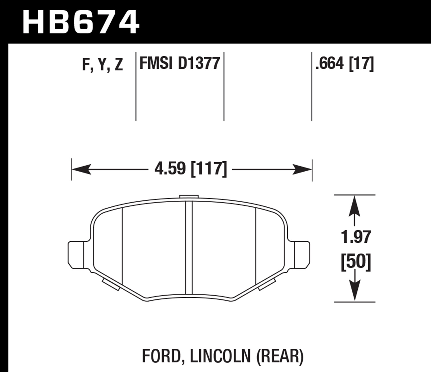 Hawk Performance HB462Y.827 LTS Brake Pad