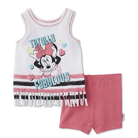 minnie mouse disney baby girls' tank top & short size 3-6 months (3-6 Month Minnie Mouse Halloween Costume)