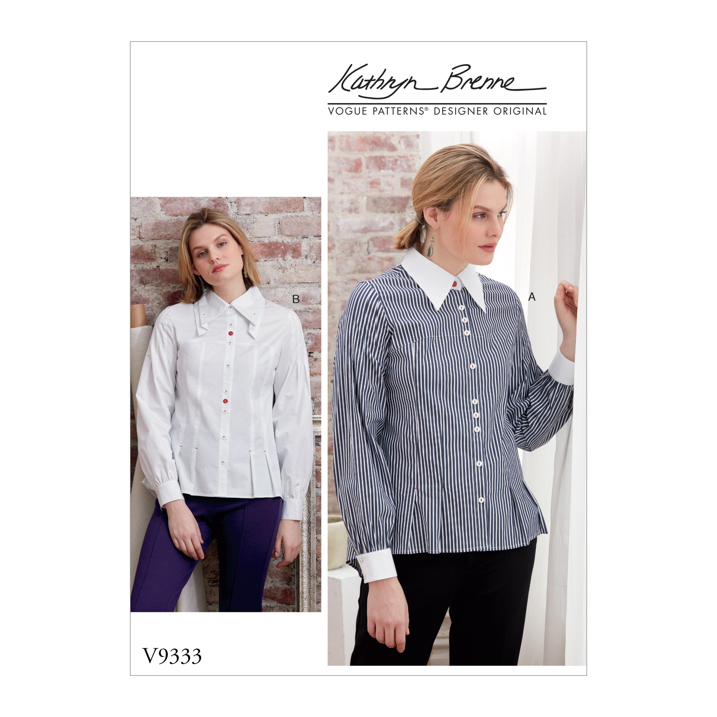 Vogue Patterns Sewing Pattern Misses' Shirt-14-16-18-20-22