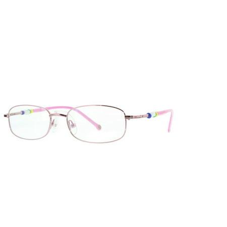 3929b29fe0be Eye Buy Express Kids Childrens Reading Glasses Pink Full Frame Rounded  Rectangular Anti Glare grade d5345 - Walmart.com