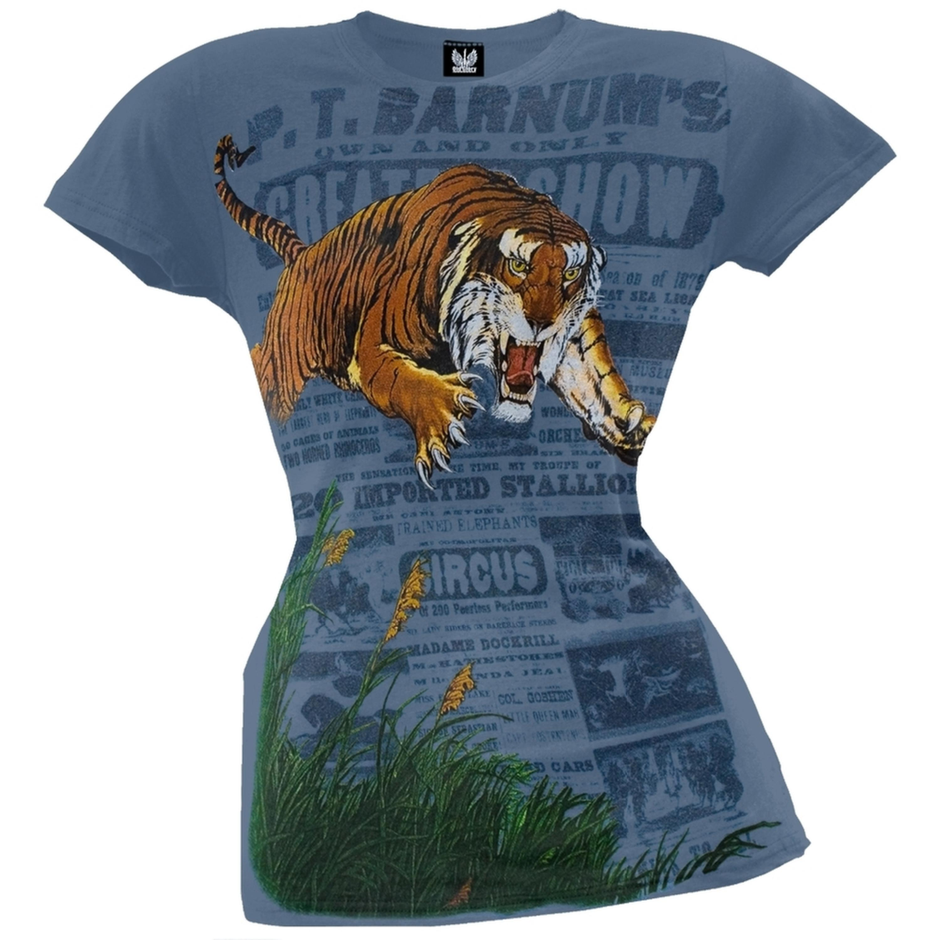 Ringling Bros - Leaping Tiger Juniors T-Shirt