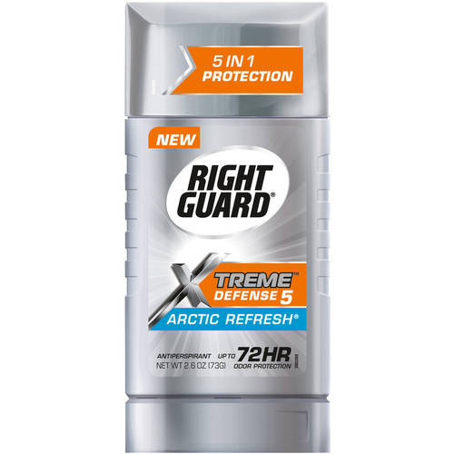 Right Guard Xtreme Antiperspirant Deodorant Invisible Solid Stick, Arctic Refresh, 2.6 Ounce