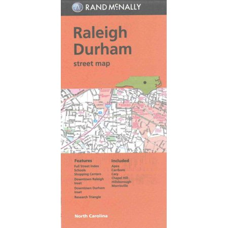 Rand mcnally raleigh durham, north carolina street map - folded map: 9780528008412 (North Carolina Historic Maps)