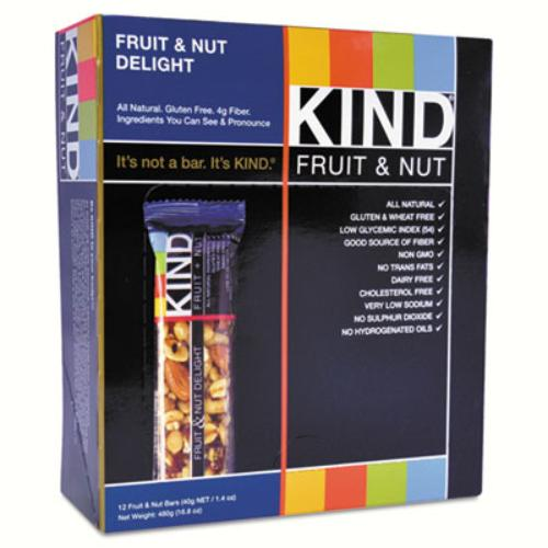 17824 Fruit And Nut Bar, Nut Delight, 1.4 Oz, 12/box
