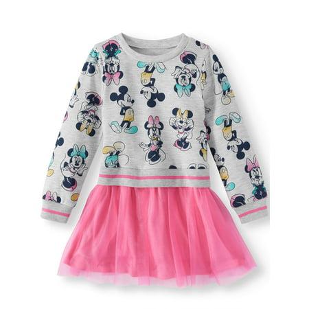French Terry Sweatshirt & Tulle Skirt Tutu Dress (Toddler Girls) - Tutu Dress