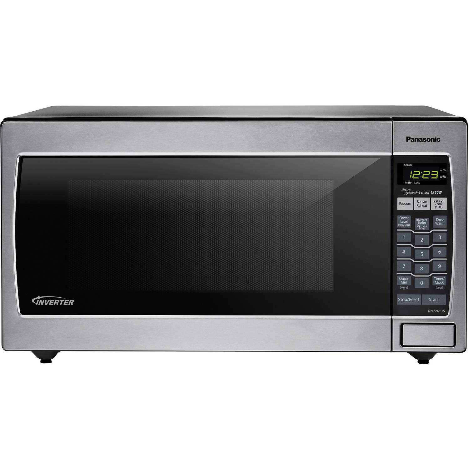 Panasonic Nn Sn752s Stainless 1250w 1 6 Cu Ft ᅡᅠ Countertop Built In Microwave With Inverter Technology