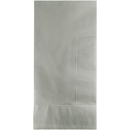 Touch of Color Dinner Napkins, 2-Ply, 1/8 Fold, Shimmering Silver, 50 Ct - Dinner Napkins Paper