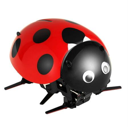 Hascon Remote Control Smart Ladybug Insect Robot Toy DIY Robot Kit HITC