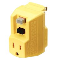 TRC 90265-6-012 Shockshield Yellow Portable GFCI Plug with Surge Protection
