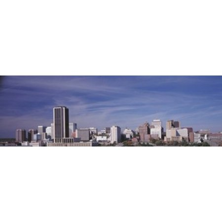 Skyscrapers in a city Richmond Virginia USA Canvas Art - Panoramic Images (18 x 6)