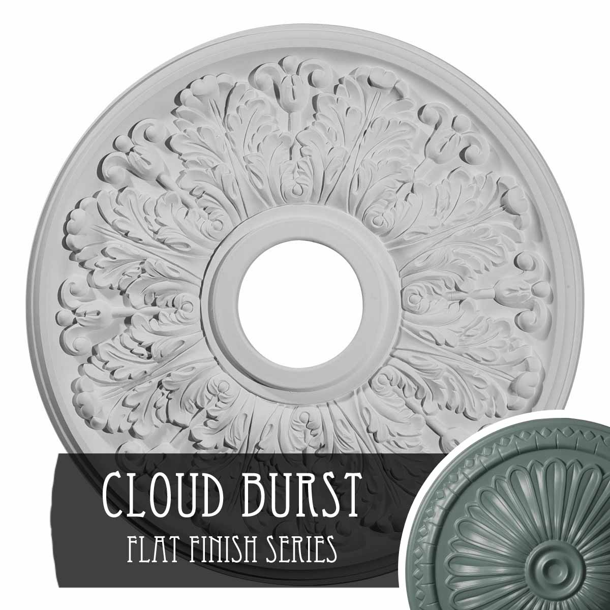 """15 3/8""""OD x 7""""ID x 1""""P Lisbon Ceiling Medallion (Fits Canopies up to 7"""")"""