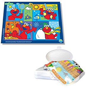 Neat Solutions Sesame Street Vinyl Floor and Meal Mat with 18-Count Table Topper Placemat Set