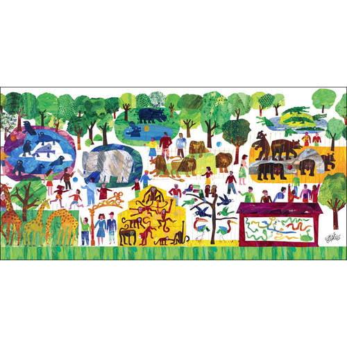 Oopsy Daisy - Eric Carles 123 Zoo Canvas Wall Art 48x24, Eric Carle
