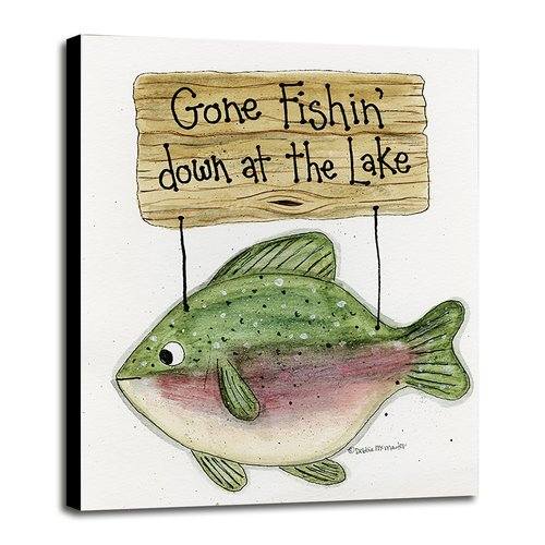 Millwood Pines 'Gone Fishing' Textual Art