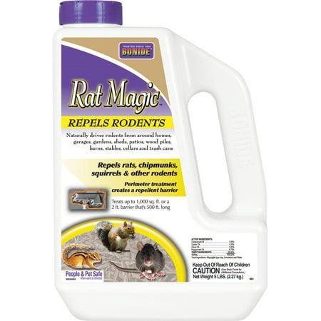 Bonide 5lbs. Rat Magic Rodent Repellent Granules (Rat Repellent)