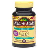 Nature Made Omega-3 Fish Oil 1200 Mg Odorless Softgels - 60 Ea