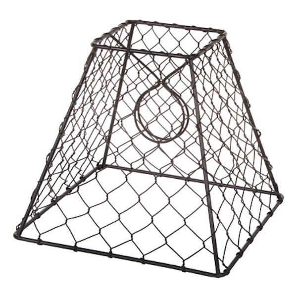 Clip On Chicken Wire Lamp Shade Square Black 8 X 8 Inches