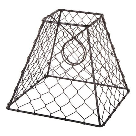 Clip-On Chicken Wire Lamp Shade: Square, Black, 8 x 8