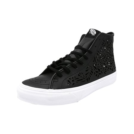 2c85418e61 Vans - Vans Sk8-Hi Decon Cut-Out Leaves   Black Mid-Top Leather Fashion  Sneaker - 7M 5.5M - Walmart.com