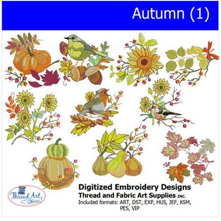 Threadart Machine Embroidery Designs Autumn(1) CD