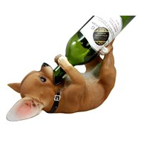 "Atlantic Collectibles Tea Cup Chihuahua Amigo Wine Bottle Holder Caddy Figurine 11"" Long"