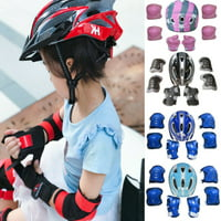 SUNSIOM Boys Girls Kids Safety Helmet & Knee & Elbow Pad Set For Cycling Skate Bike Use