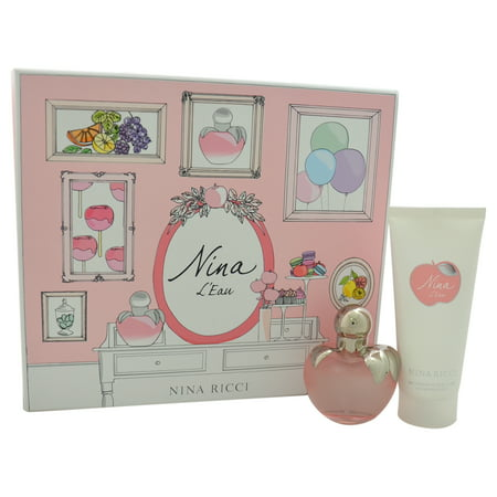 Nina LEau by Nina Ricci for Women - 2 Pc Gift Set 1.7oz Eau Fraiche Spray, 3.4oz Delicate Body Lotion
