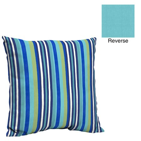 Turquoise Room Ideas (Mainstays Turquoise Stripe 21 x 21 in. Outdoor Pillow Back)