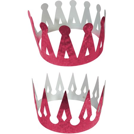 Renaissance Medieval Fantasy King Set Of 2 Pink Crowns Costume Accessory](Renaissance Crown)