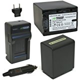 Wasabi Power Battery (2_Pack) and Charger for Sony NP_FH1...