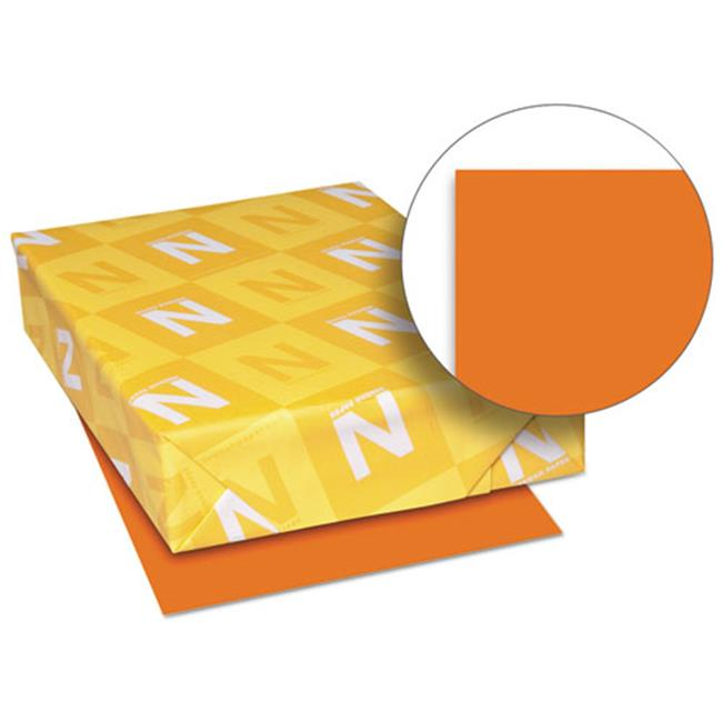 Wausau Papers 26731 8.5 x 11 Exact Brights Paper, Bright Tangerine