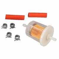 "Carquest Premium 1/4"" Inlet-Outlet Plastic In-Line Fuel Filter"