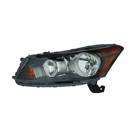 2008-2012 Honda Accord 4-Door Sedan Driver Side Halogen Black Headlight HO2502130