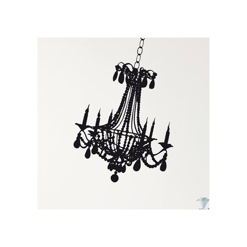 Brewster Home Fashions Euro Freestyle Chandelier Wall Decal