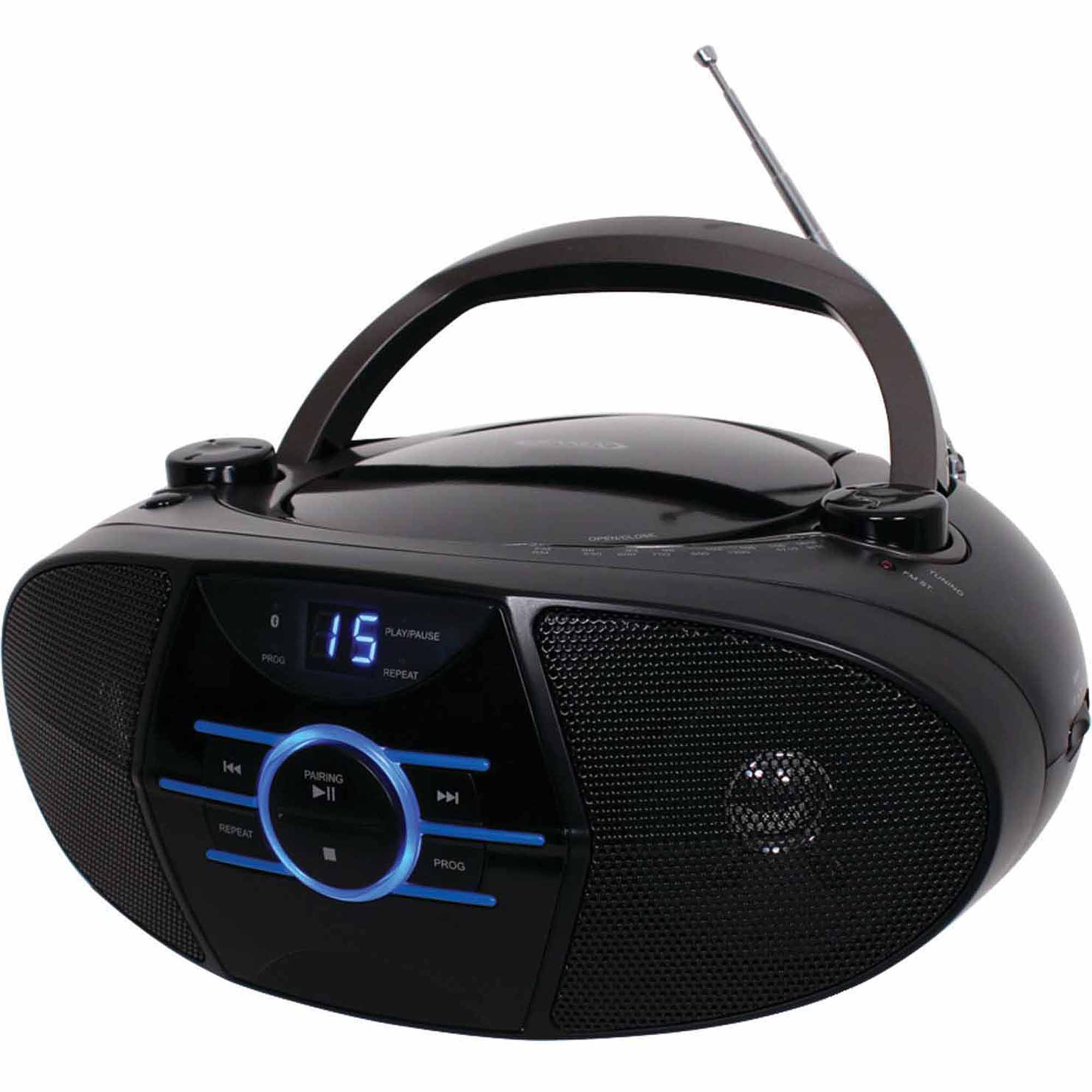 Jensen CD-560 Portable Stereo CD Player with AM/FM Stereo Radio and Bluetooth