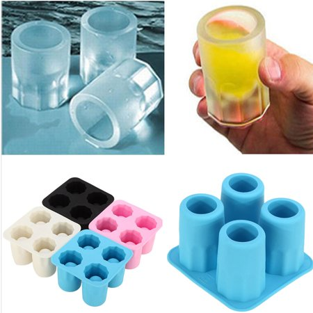 Cool Rubber Ice Cube Shot Glass Freeze Mold Maker Shooters Tray Party Supplies