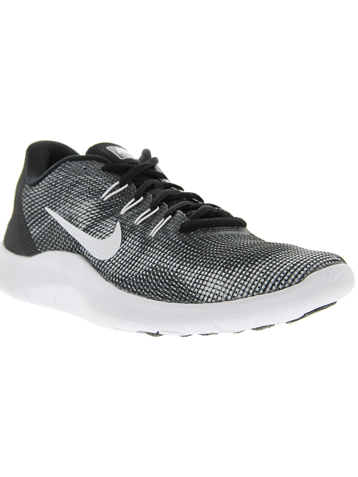 3deed412ec162c Nike Men s Flex 2018 Rn Black   White Ankle-High Mesh Running Shoe ...