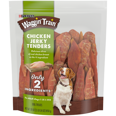 Purina Waggin' Train Limited Ingredient, Grain Free Dog Treat; Chicken Jerky Tenders - 30 oz. Pouch - Halloween Broom Treats