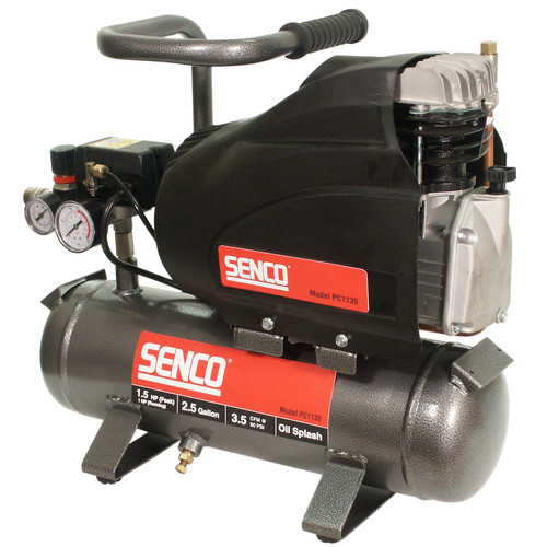 Senco PC1130 Air Compressor, 1.5 hp, 2.5 gal, 125 psi, 3.5 scfm at 90 psi by Senco Products