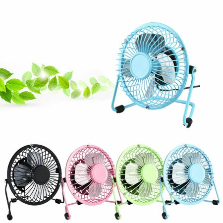 USB Fan Table Air Circulator Fan Desk Fan Mini Portable Desktop Silent Cooling Desk Quiet Fan Air Cooler Computer Laptop PC
