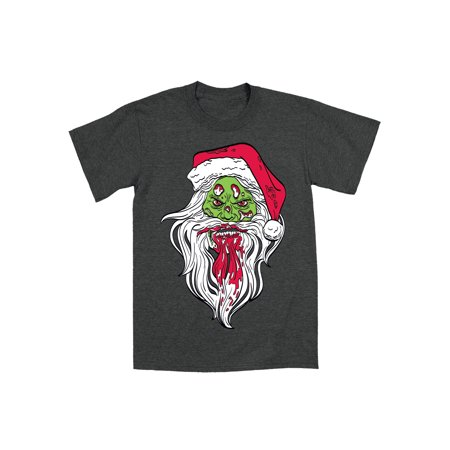 Zombie Santa Claus Christmas Holiday Funny Nerd Party Cool Tee - Mens T-Shirt