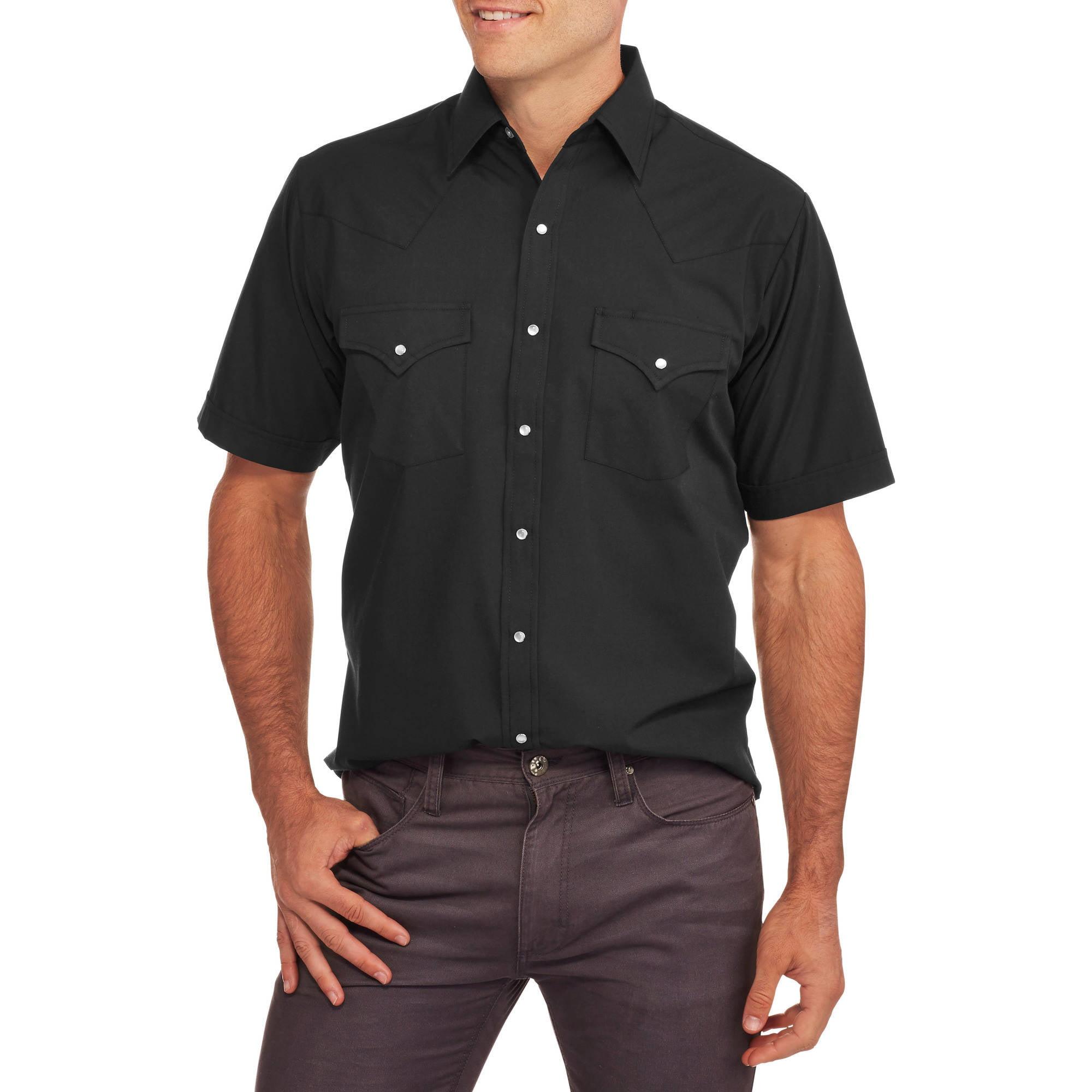 Plains Mens Short Sleeve Western Shirt