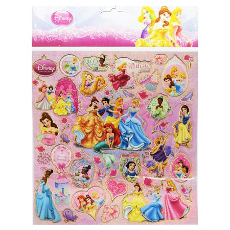 Disney Princess Lovely Assorted Sticker Collection (Over 40 Stickers) (Disney Princess Stickers)