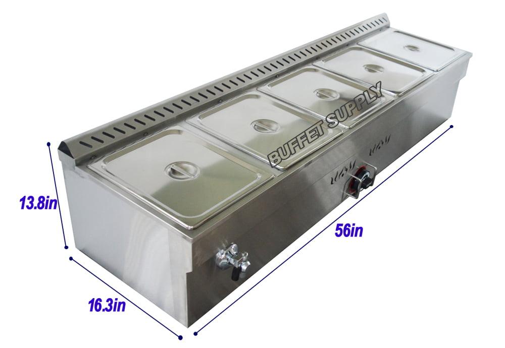 5-Pan LP Gas Steam Table Food Warmer� by