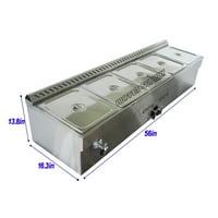 5-Pan LP Gas Steam Table Food Warmer�
