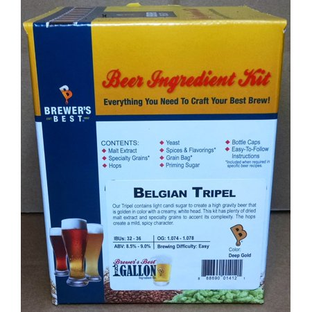 Brewer's Best One Gallon Home Brew Beer Ingredient Kit (Belgian