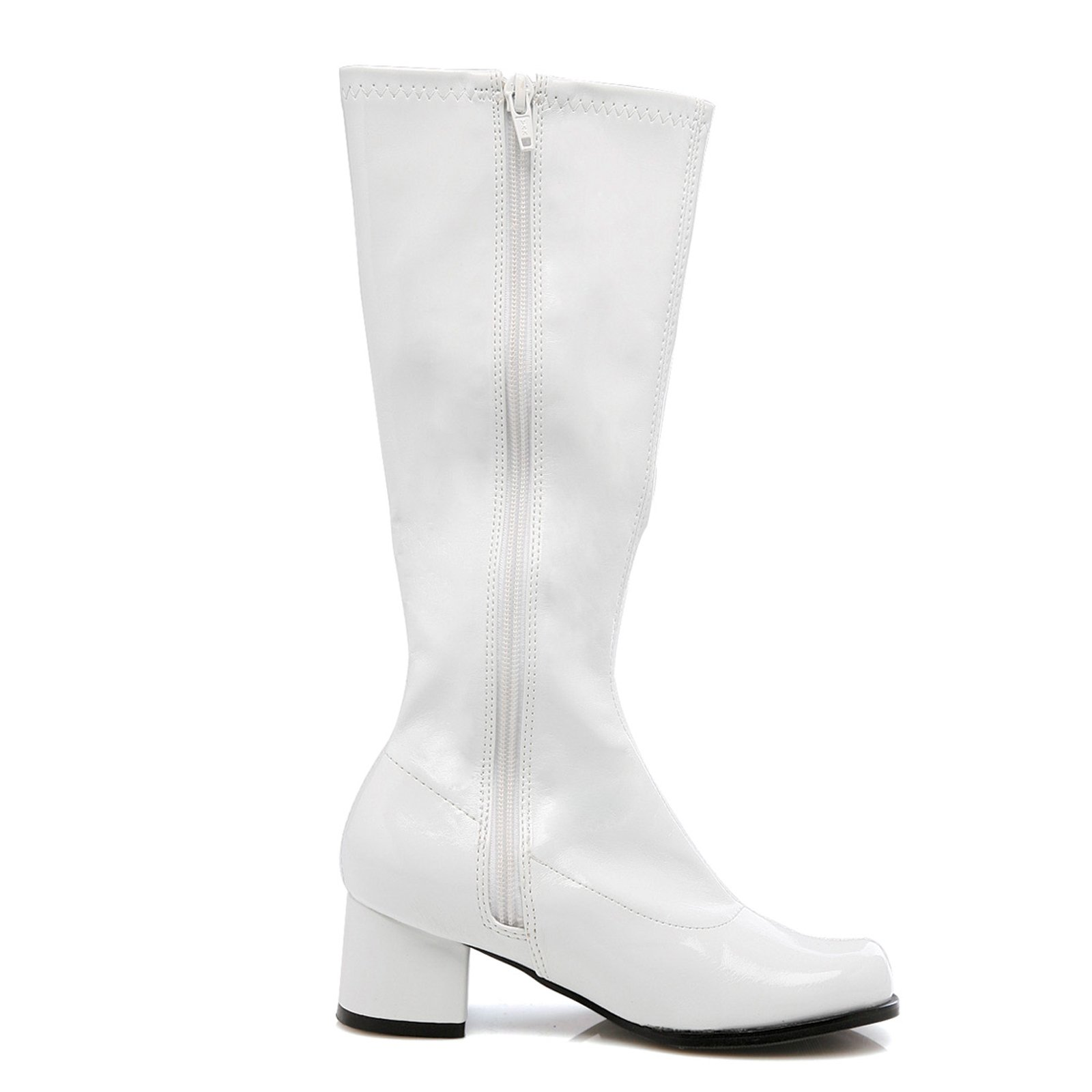 """Dora Girls White 1.75"""" Go Go Boots by ELLIE SHOES"""
