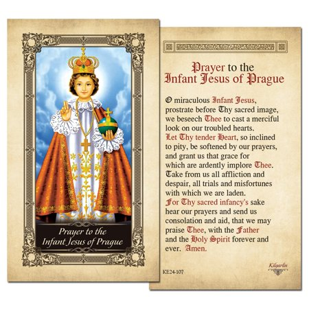 The Infant Jesus of Prague Laminated Prayer Card - Pack of 3